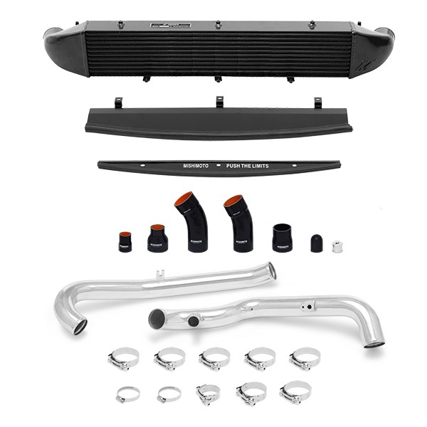 Ford Fiesta ST Performance Intercooler Kit, 2014+ Polished Pipes, Black Cooler