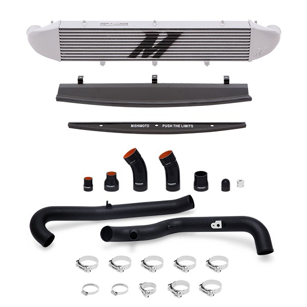 Ford Fiesta ST Performance Intercooler Kit, 2014+ Black Pipes, Silver Cooler