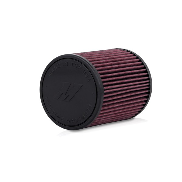 "Mishimoto Performance Air Filter, 2.75"" Inlet, 7"" Filter Length, Red"