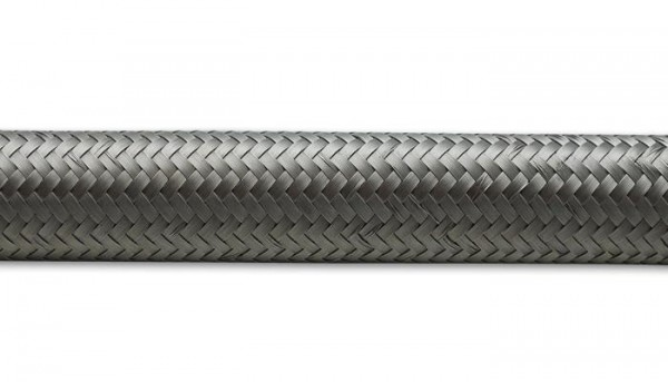 """20ft Roll of Stainless Steel Braided Flex Hose; AN Size: -10; Hose ID 0.56"""""""