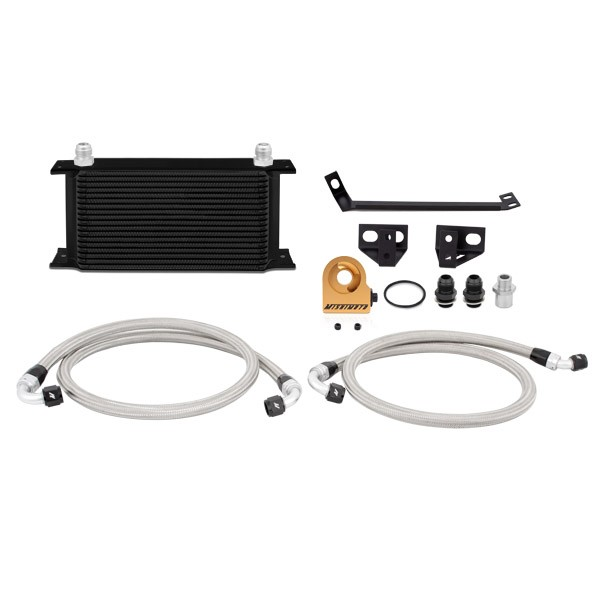 Ford Mustang EcoBoost Thermostatic Oil Cooler Kit, 2015+ Black