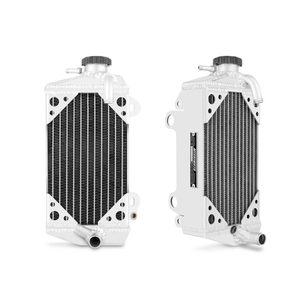 Suzuki RMZ450 Braced Aluminum Dirt Bike Radiator, 2008-2013