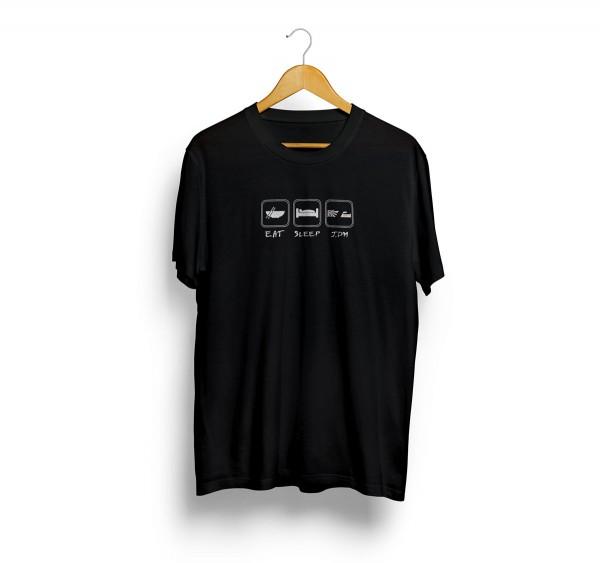 PWJDM T-Shirt Eat Sleep JDM Grösse: L in schwarz