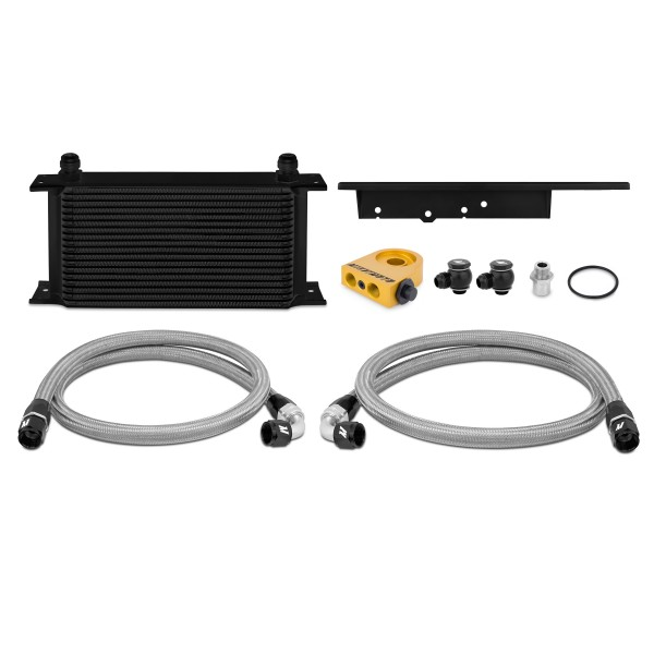 2003-2009 Nissan 350Z / 2003-2007 Infiniti G35 Coupe Thermostatic Oil Cooler Kit, Black