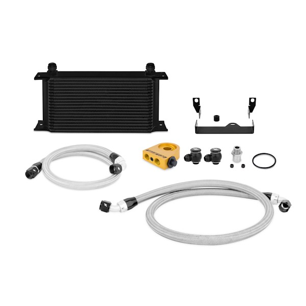2006-2007 Subaru WRX/STi Thermostatic Oil Cooler Kit, Black