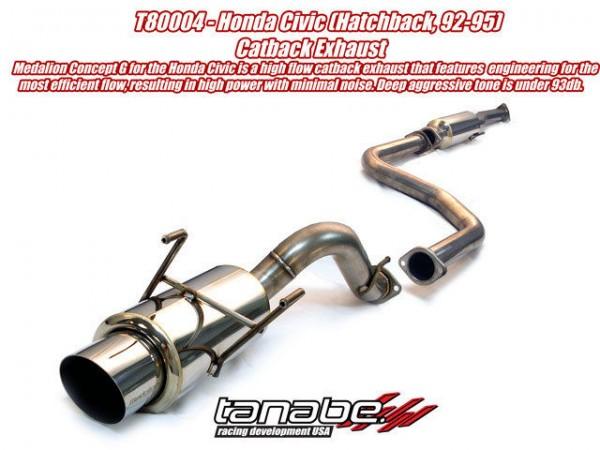 Tanabe Medalion Concept G Auspuffanlage Honda Civic Hatchback 92-95