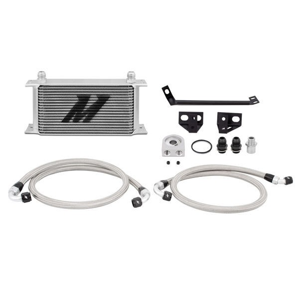 Ford Mustang EcoBoost Oil Cooler Kit, 2015+ Silver