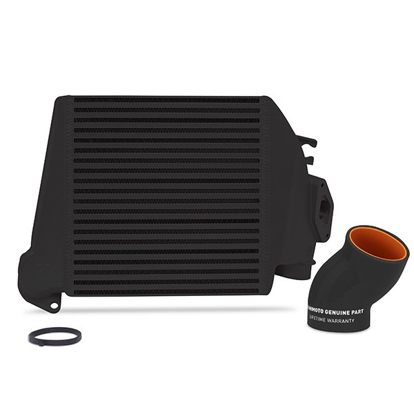 Subaru WRX 2008-2014 Top-Mount Intercooler Black Cooler, Black hoses