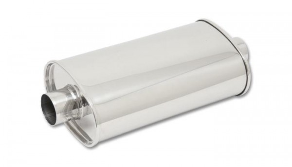 "STREETPOWER Oval Muffler, 2.5"" inlet/outlet (Center-Center)"