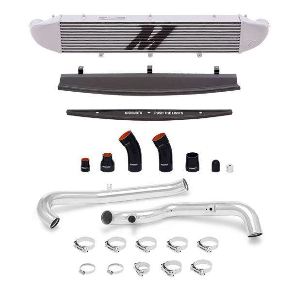 Ford Fiesta ST Performance Intercooler Kit, 2014+ Polished Pipes, Silver Cooler