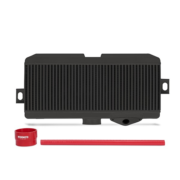 Subaru WRX STI Performance Top-Mount Intercooler Kit, Black Cooler, Red Hoses, 2008-2014