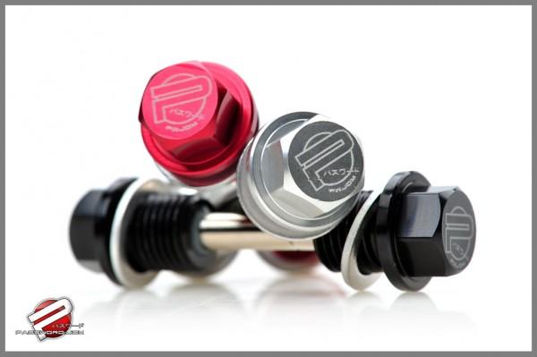 PWJDM Ölablassschrauben magnetisch Honda (Motor+Getriebe) schwarz
