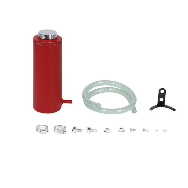 Aluminum Coolant Reservoir Tank, Wrinkle Red