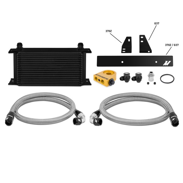 Nissan 370Z, 2009+ / Infiniti G37, 2008+ (Coupe only) Thermostatic Oil Cooler Kit, Black