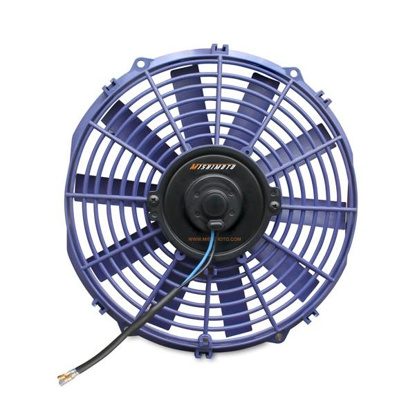 "Mishimoto Slim Electric 12"" Fan, Blue"