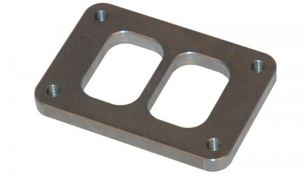 """T06 Turbo Inlet Flange (Divided Inlet) - 1/2"""" thick"""