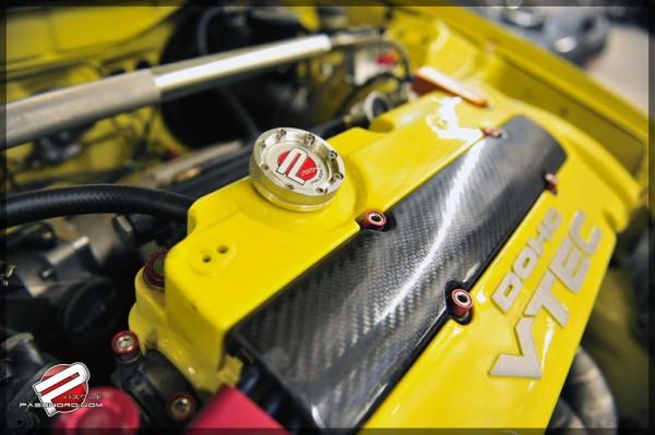 PWJDM Öldeckel V.2 für Honda & Nissan Rot