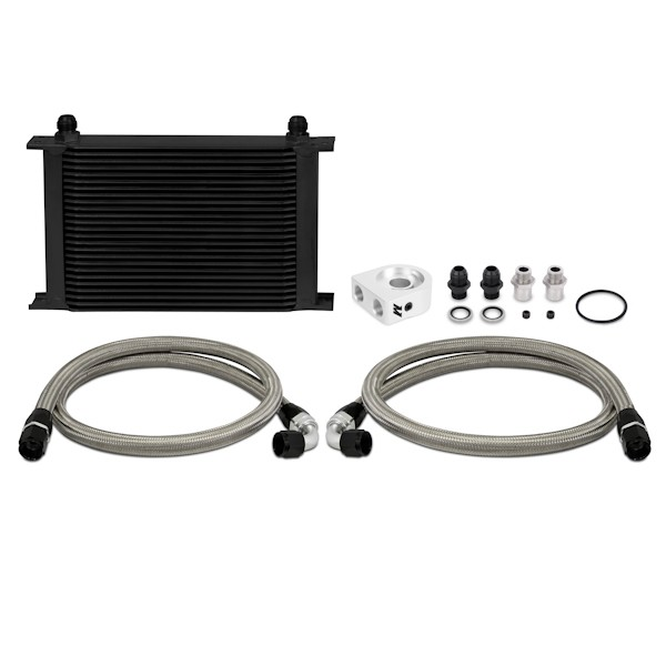 Universal Oil Cooler Kit, Black, 25 Row