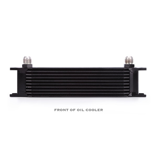 Universal 10 Row Oil Cooler Kit, Black