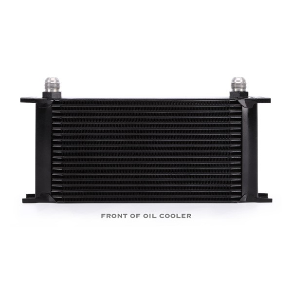 Universal 19 Row Oil Cooler, Black