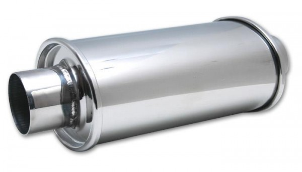 """Vibrant Ultra Quiet Edelstahl Schalldämpfer 2.5"""" 63.5mm universal"""