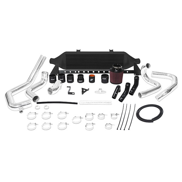 Subaru WRX STI front-mount intercooler kit, W/ Air Box, 2008-2014 Black