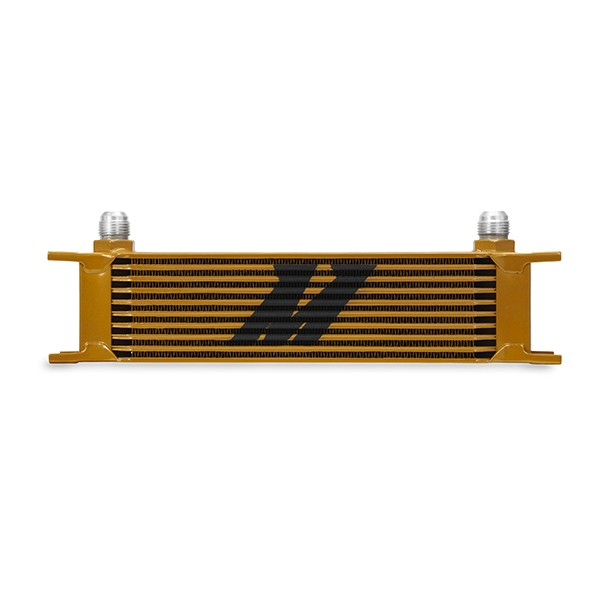 Universal 10 Row Oil Cooler, Gold