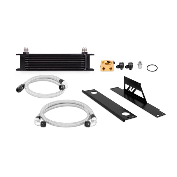 Subaru WRX and STI Thermostatic Oil Cooler Kit, Black, 2001-2005