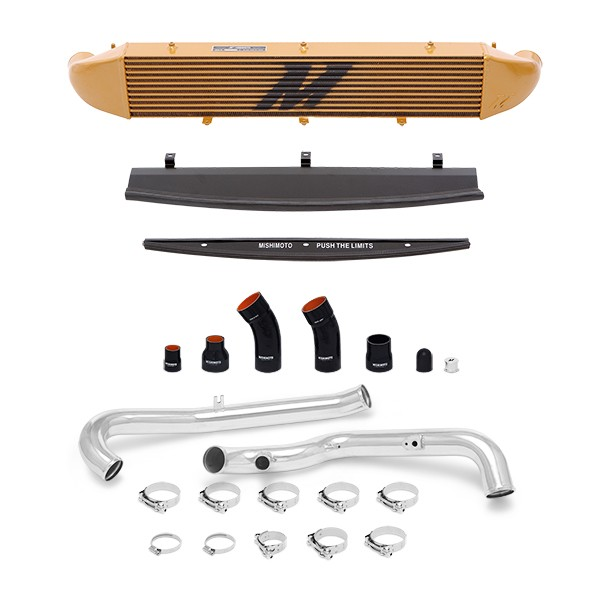 Ford Fiesta ST Performance Intercooler Kit, 2014+ Polished Pipes, Gold Cooler