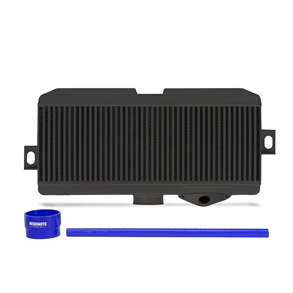 Subaru WRX STI Performance Top-Mount Intercooler Kit, Black Cooler, Blue Hoses, 2008-2014