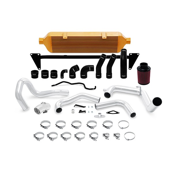 Subaru STI Front-Mount Intercooler, 2015+ Intake Gold